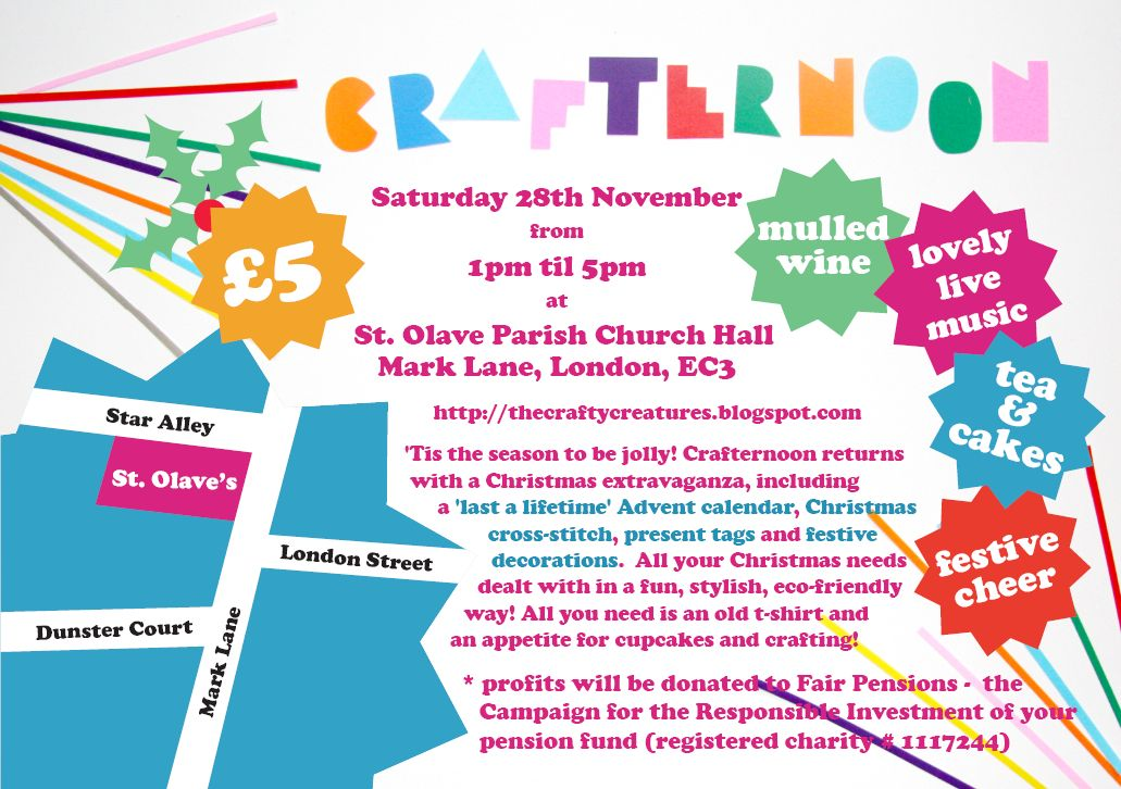 Crafty Creatures: Crafternoon Christmas Flyer!