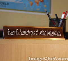 Help with a stereotypical asain essay?