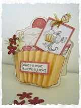Patroon Cupcake kaart