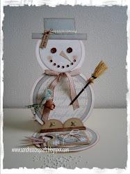 Sneeuwpop kaart
