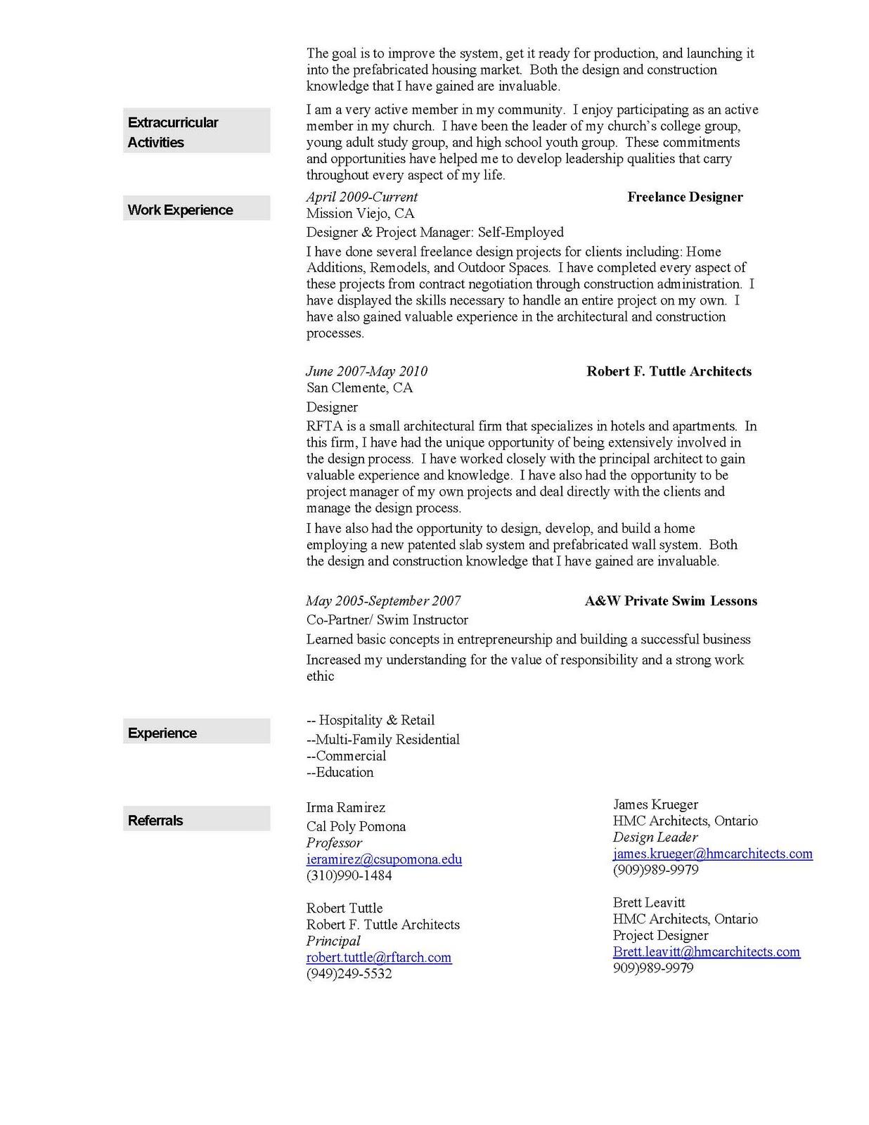 westin gaudet architecture portfolio resume