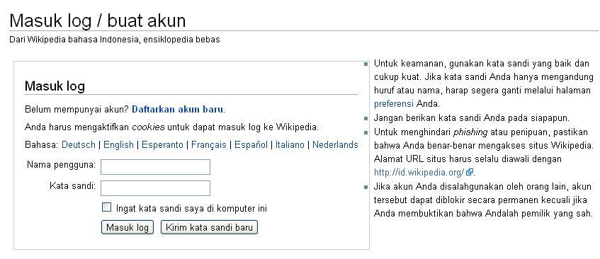 cara membuat akun di wikipedia sebagai berikut dari halaman masuk log ...