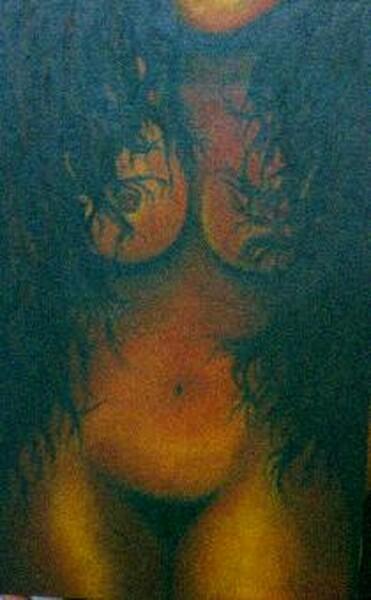 1ª pintura de samor,  orientado pelo prof. Fernando Ciavaglia