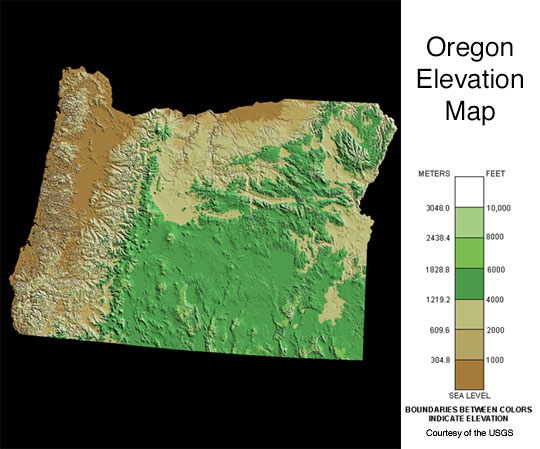 Field Herp Forum View Topic Chapter Goals For - Oregon elevation map