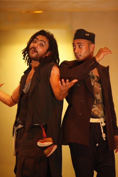 Karma Sano Sansar And Subash Thapa Performing Waiting For Godot