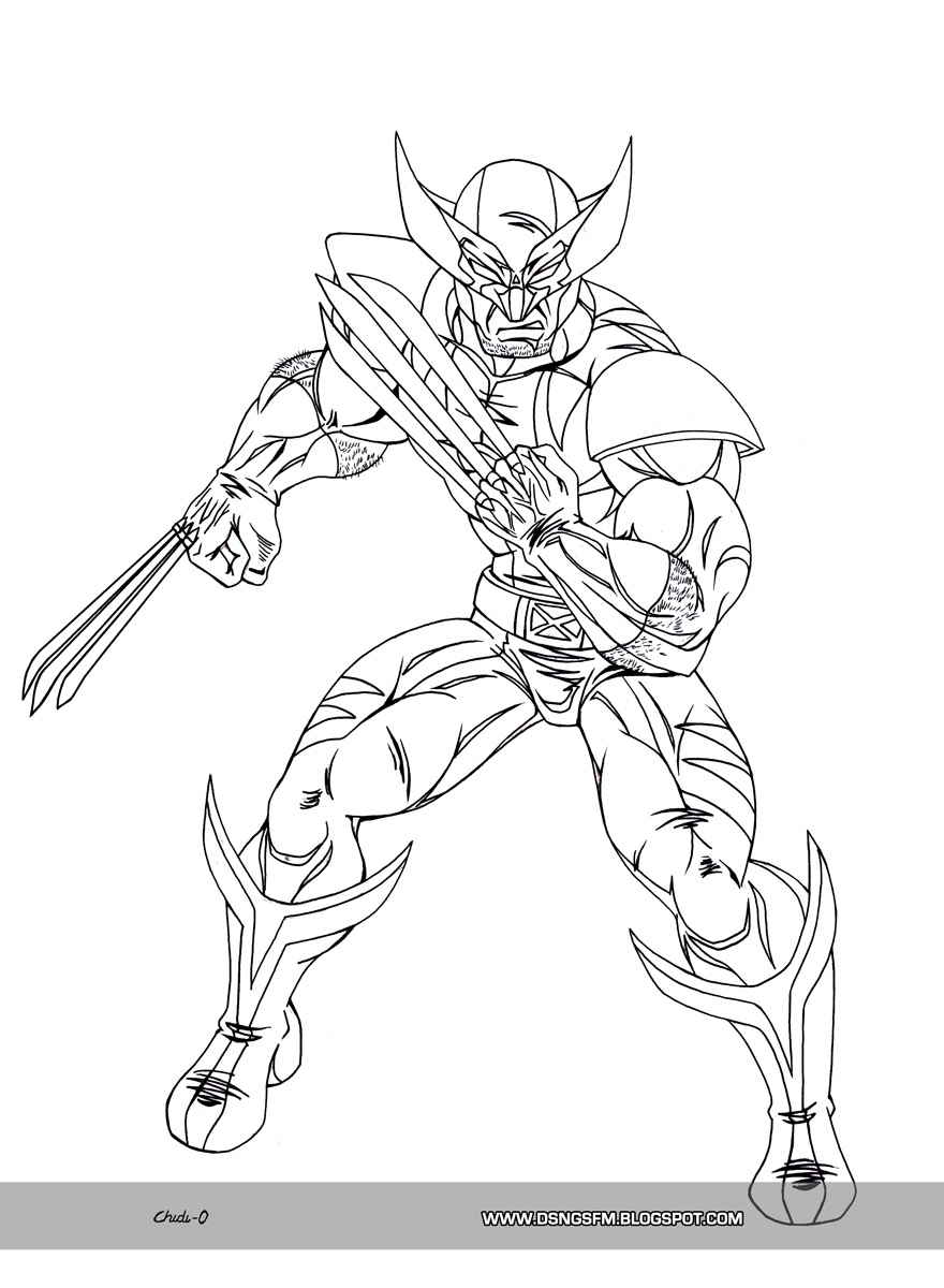 Wolverine Coloring Pages Free Wolverine Coloring Pages