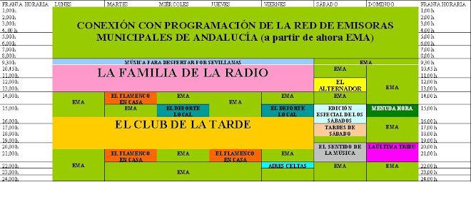 PARRILLA DE PROGRAMACIÓN DE RADIO MONTELLANO