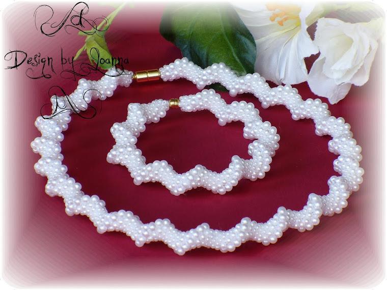 Schlichte Brautkette und Armband