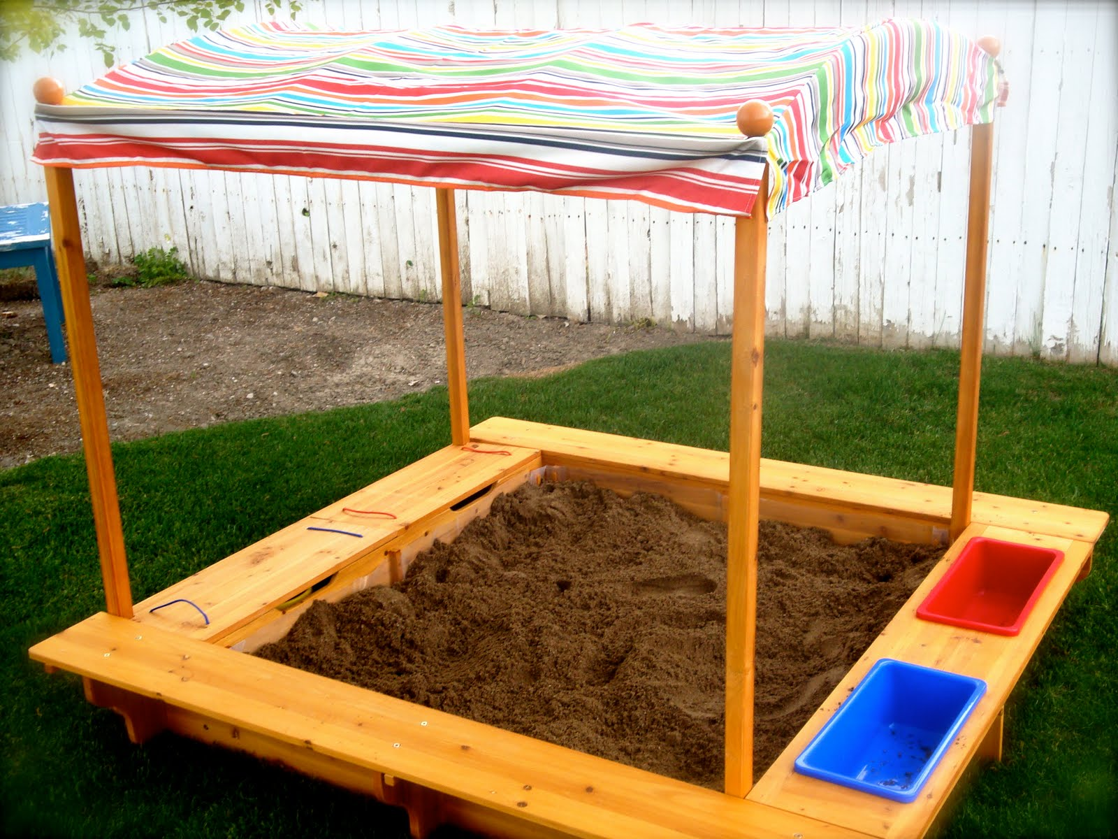 how to build a sandbox with pictures