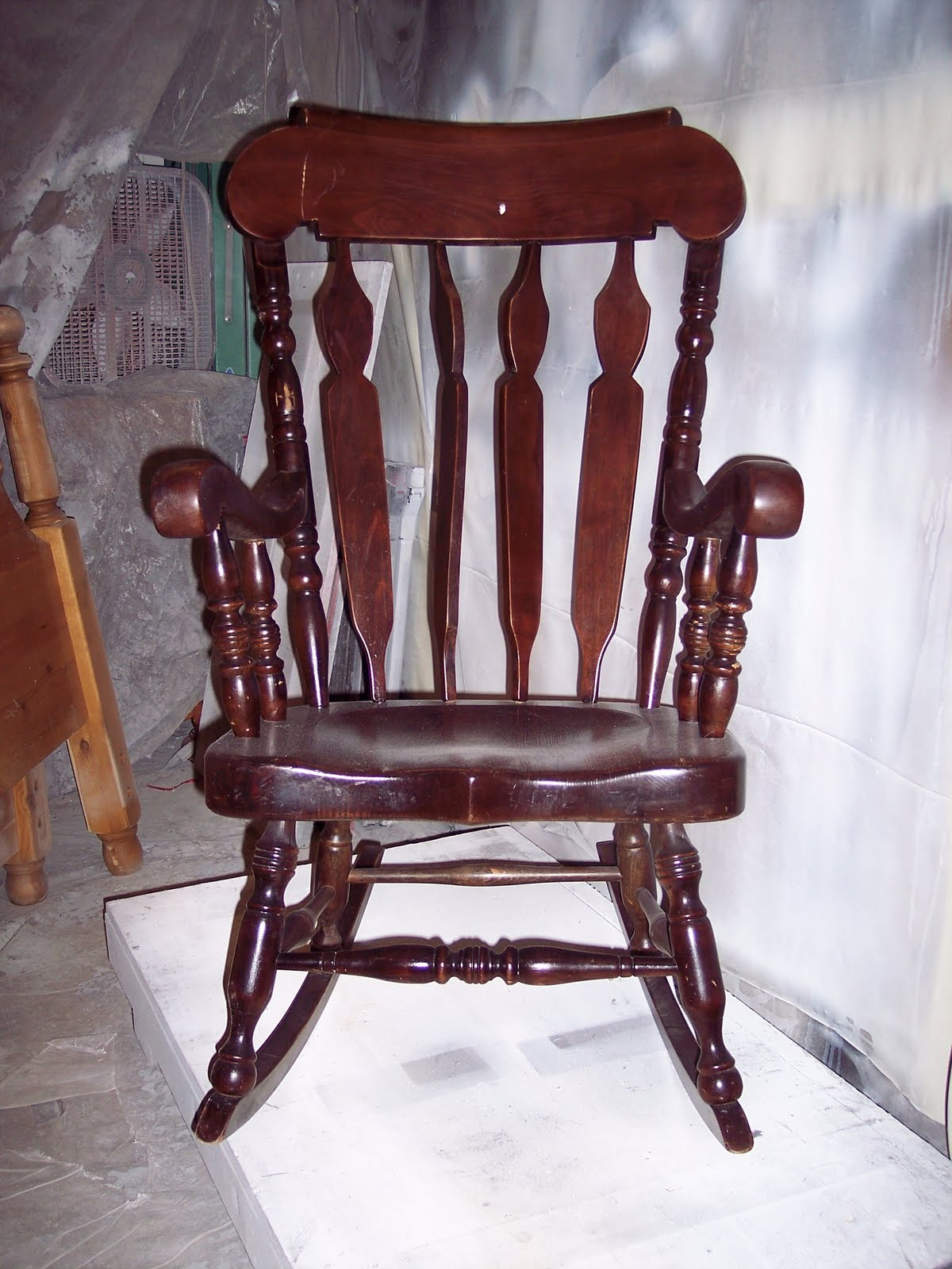 Beau A Grandfatheru0027s Rocking Chair   Custom Refinish Before U0026 After