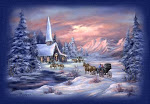 Snowy Church Scene