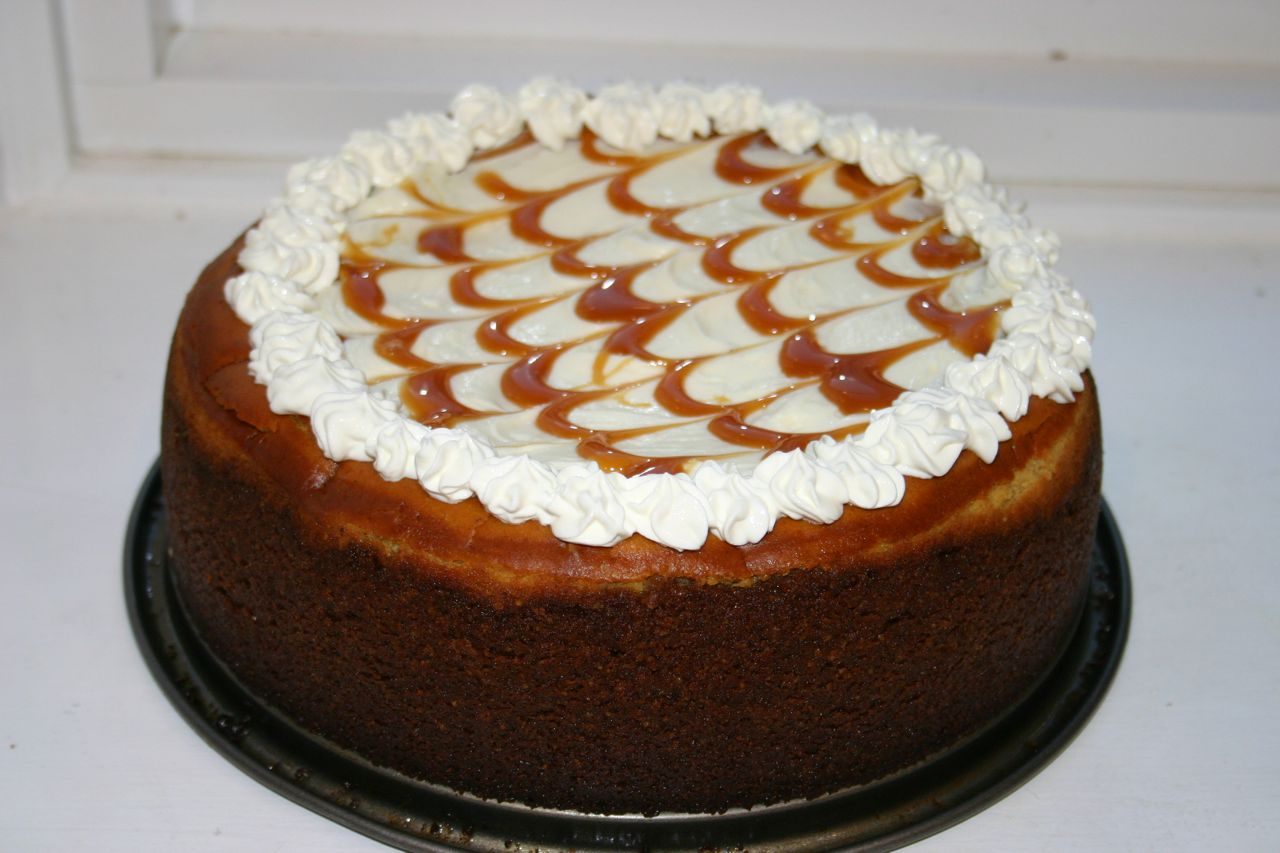 Pumpkin-Caramel Cheesecake with Gingersnap Crust