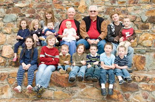 Grandma, Grandpa and the 14 Grandkids