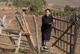 Kommaly Chantavong on Lao Sericulture Company's organic farm