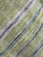 close-up of handwoven, naturally dyed table runner