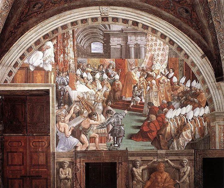 Pintura de Rafael. Carlomagno.