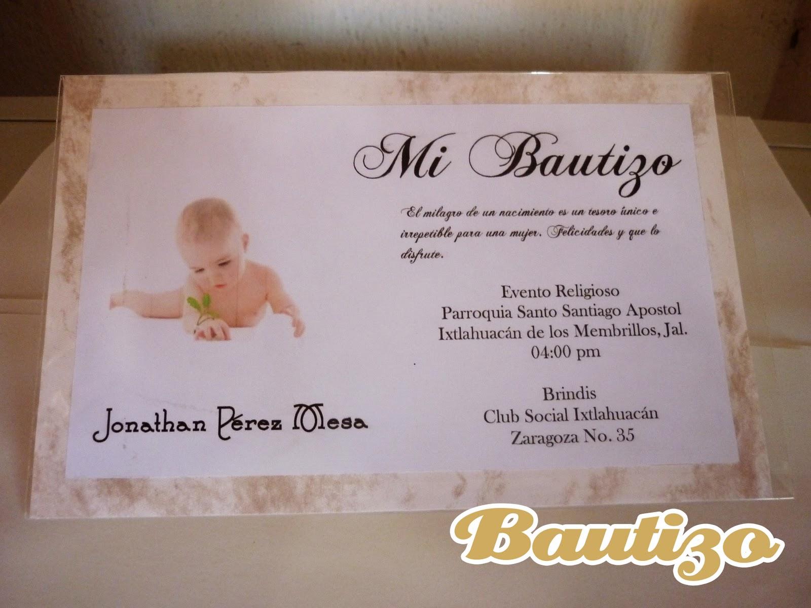 Invitación para Bautizo.