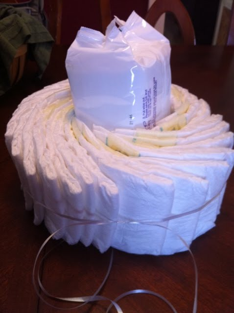 little olsen baby shower a diaper cake