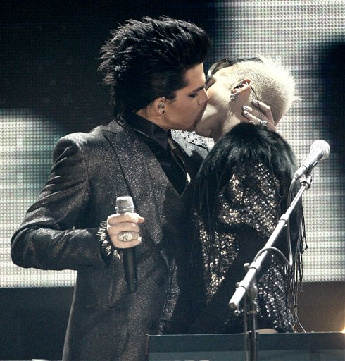 American Idol star Adam Lambert has defended his same-sex kiss onstage at ...