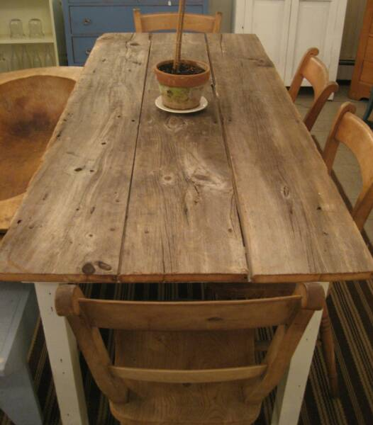 Woods make extendable farmhouse table plans for Rustic farm table chairs