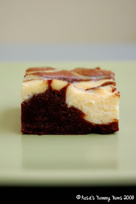 Rosa's Yummy Yums: CHEESECAKE MARBLED BROWNIES