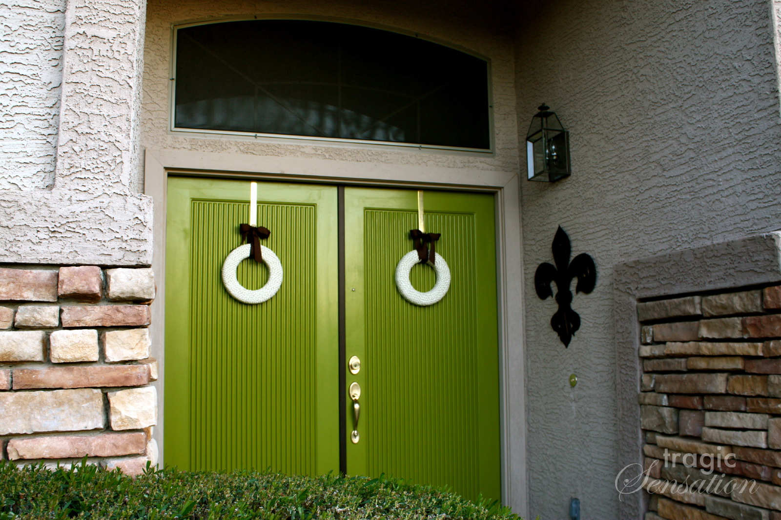 1066 #495E0F Tragic Sensation: Behind The Green Doors picture/photo Different Color Front Doors 47091600