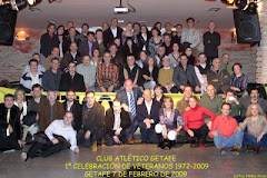 "Cena de atletas, ""Club Atltico Getafe"". Primera celebracin de veteranos 19722009."