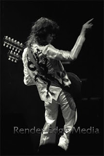 Jimmy Page of Led Zeppelin at Madison Square Garden June 1977
