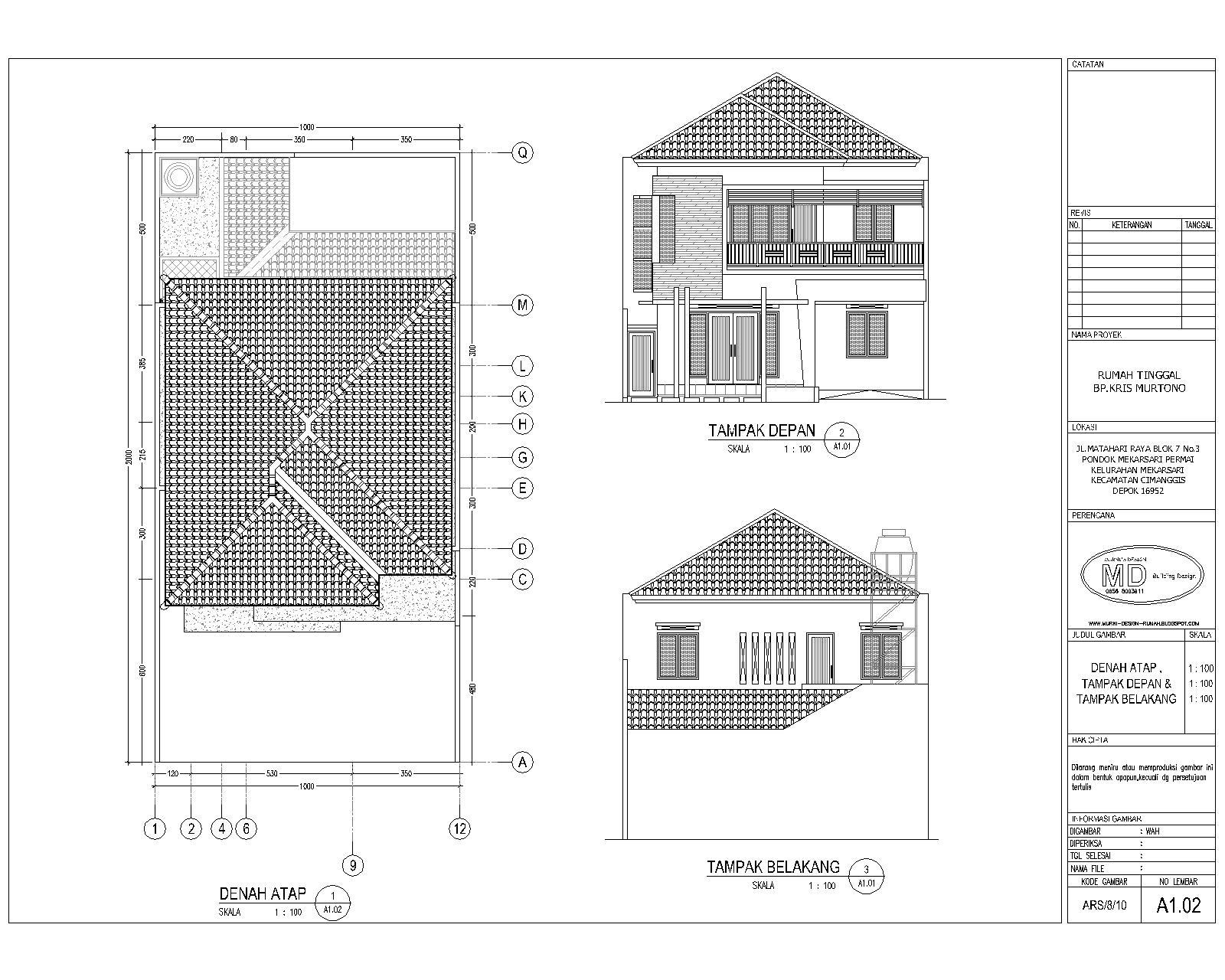 desain rumah cad bagus