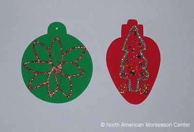 symbols of christmas NAMC montessori curriculum activities paper ornaments