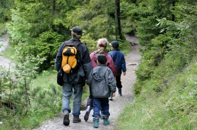NAMC montessori practical life going out summer vacation family hiking