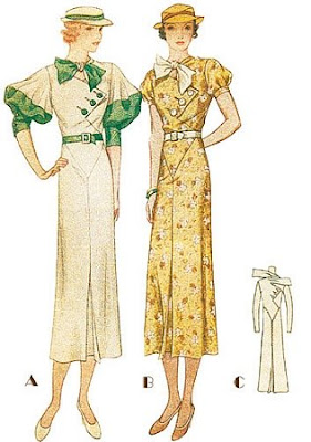 vintage pattern lending library 1930s dress 1920S Sewing Patterns