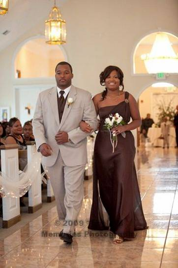 The Ringer Bearer wore a tuxedo that was identical to the Groomsman tuxedos