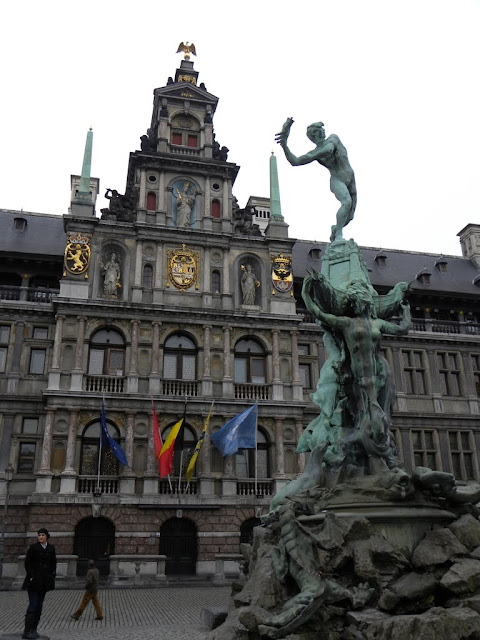 Antwerp Antwerpen Grote markt main square Demuinck Pardon