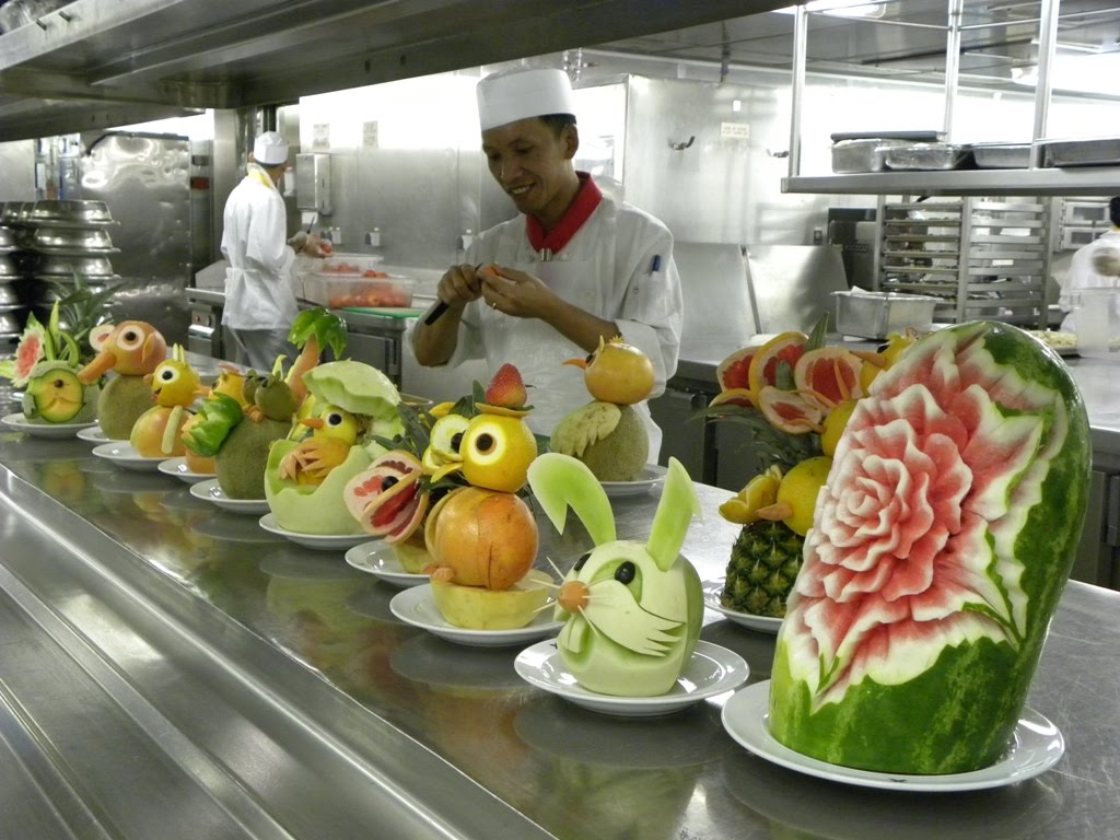 Travels Ballroom Dancing Amusement Parks The Kitchen Of - Cruise ship kitchen