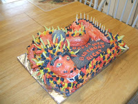 Cake with a Chinese Dragon