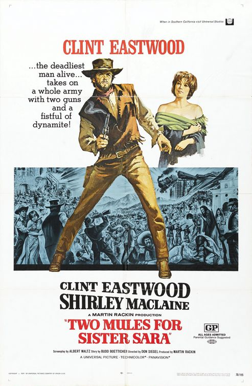 Kirkham A Movie A Day: Two Mules For Sister Sara 1970 A Movie A ...