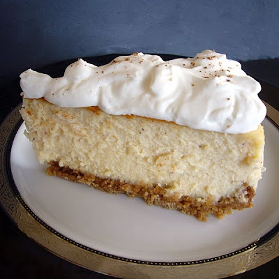 Not So Humble Pie: Egg Nog Cheesecake