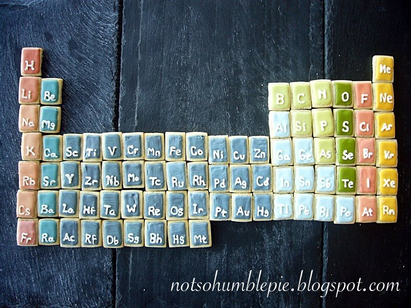 Not so humble pie science cookies periodic table science cookies seem to be a big hit and i really like making them so i am going to continue to indulge my science geek side periodic table cookies urtaz Choice Image