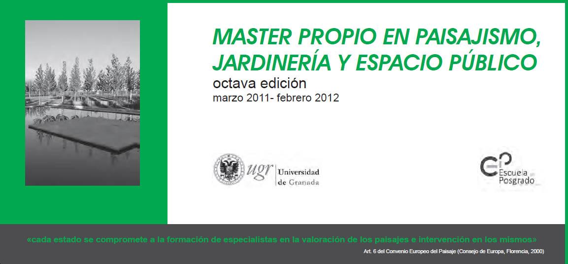 8 m ster en paisajismo universidad de granada for Pdf jardineria y paisajismo