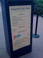 Taqueria Del Lago menu