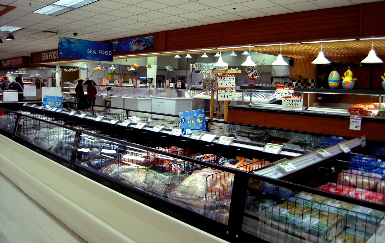Buddha bellies h mart korean grocery store for Fresh fish store