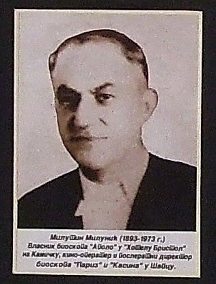 Milutin Milunić vlasnik bioskopa,, APOLO,,