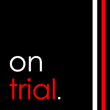 On Trial logo designed by Jonathan Cleave