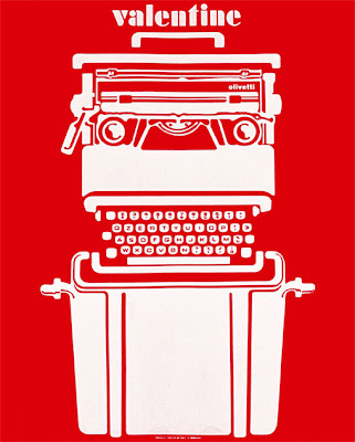 Sotass designed, Olivetti 'Valentine' typewriter.