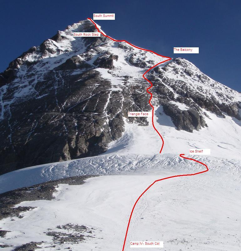 Mt. Everest South Col Route Maps
