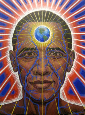 Obama the Lightworker by Alex Grey