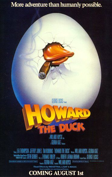 howard duck 1986 8 actors playing superhero movie stink-o howard the duck
