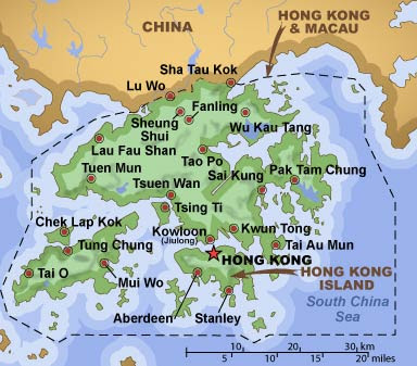 Hong kong map of world maps