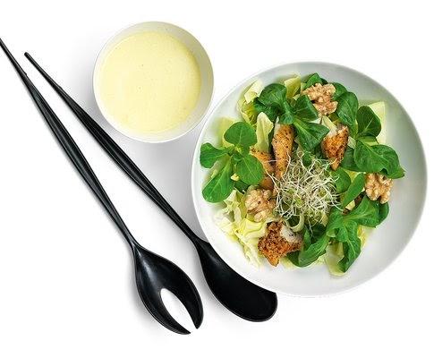 Id es recettes quatre salades repas etre radieuse par for Idee repas partage